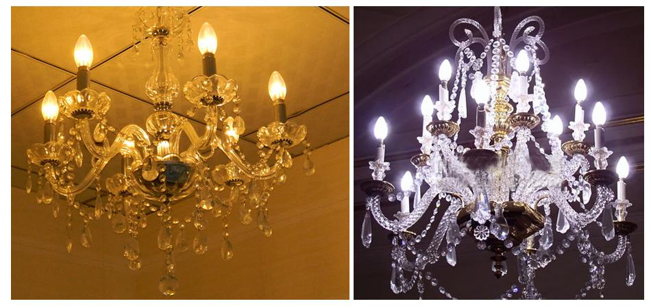 6w e14 led smd warmwei candle kerze light strahler. Black Bedroom Furniture Sets. Home Design Ideas