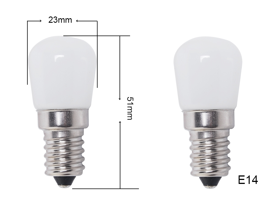 2x 1 5w 25w Mini E14 Ses Led Fridge Freezer Lamp Appliance