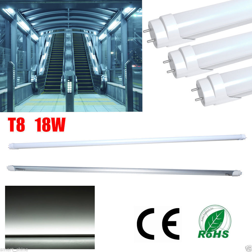 6-48pack T8 G13 4ft 18W LED Tube Lights 96SMD Fluorescent