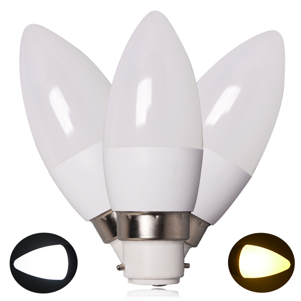12/6X E14 B22 Dimmable LED Candle Light Bulbs 5W=45w 8W ...