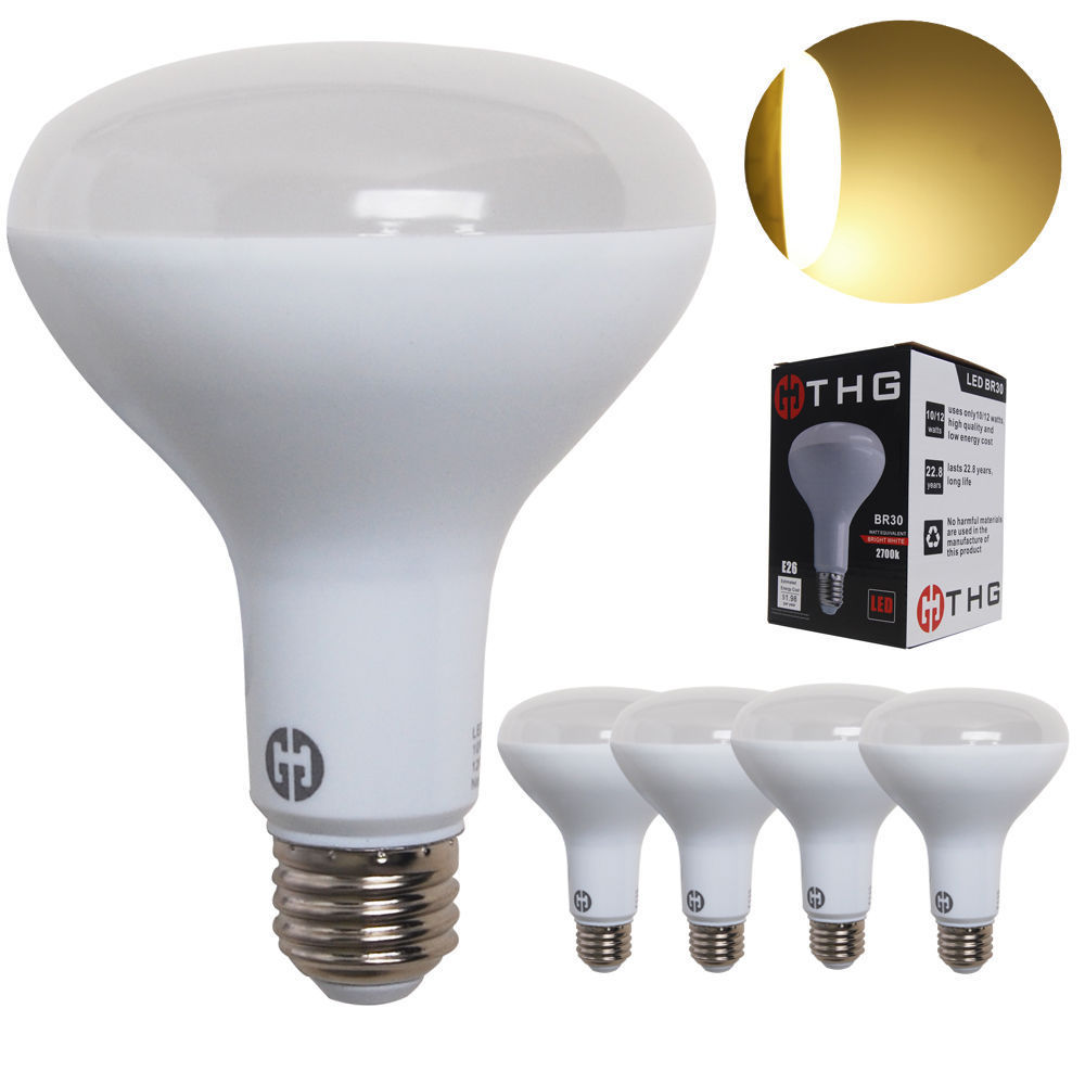 Led Flood Light Bulb Sizes: 10W 12W 15W E26 BR30 BR40 LED Bulb Reflector Replacement
