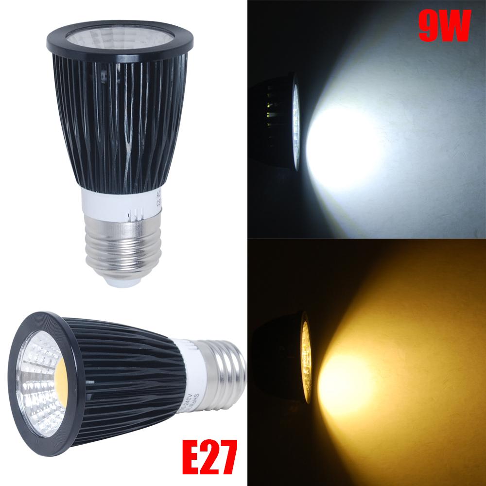 E27 MR16 GU5 3 9W LED Faretti Lampada Spot Luci Lampadina FREDDA  CALDO 220V  12V   eBay -> Lampada Spot Led