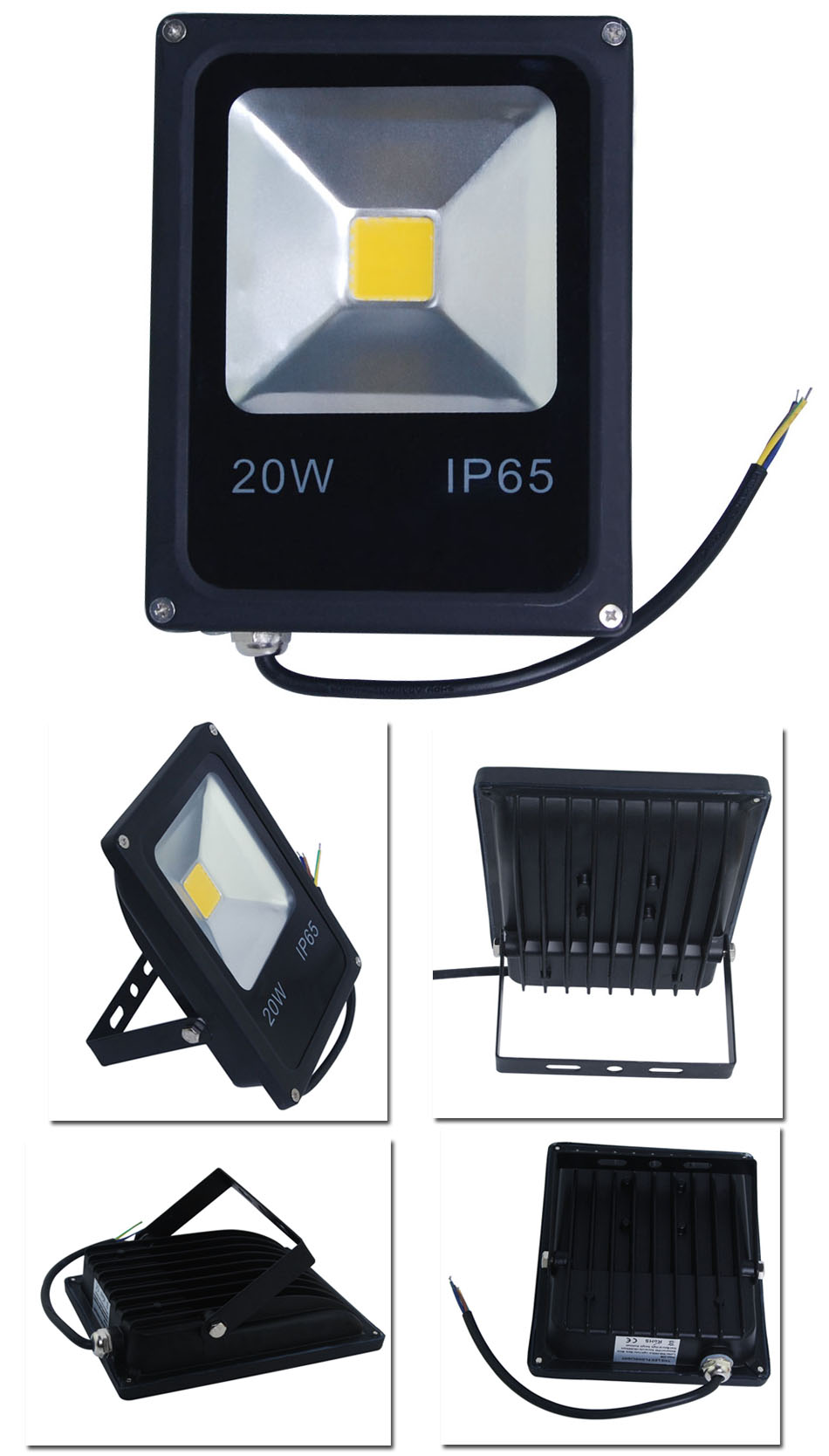 Super White 20W LED Security Flood Lights IP65 Indoor Outdoor Wall Wash Lamp UK