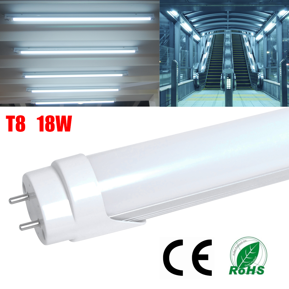 4x T8 LED 18W Cool White Tube Light Fluorescent Lamp