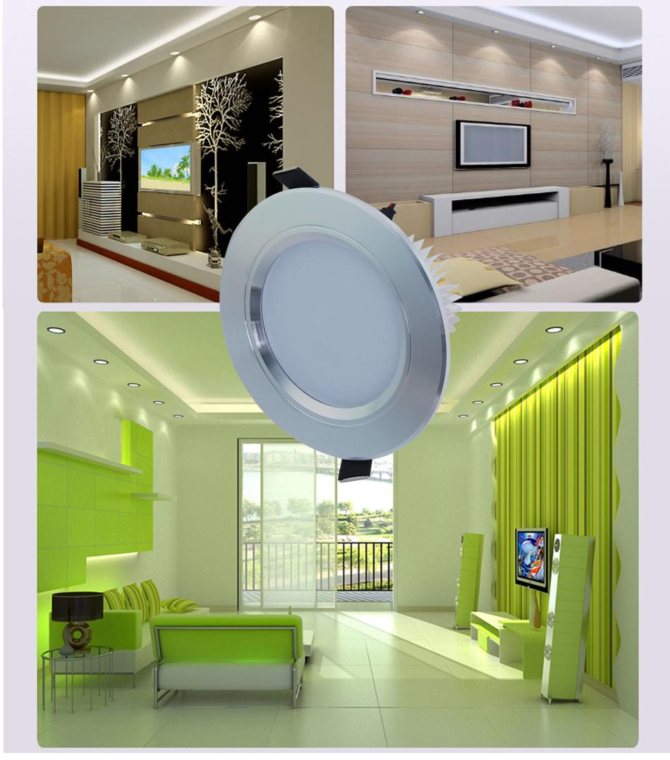 3W 5W 7W 9W 12W LED Recessed Ceiling Light Downlight Soft