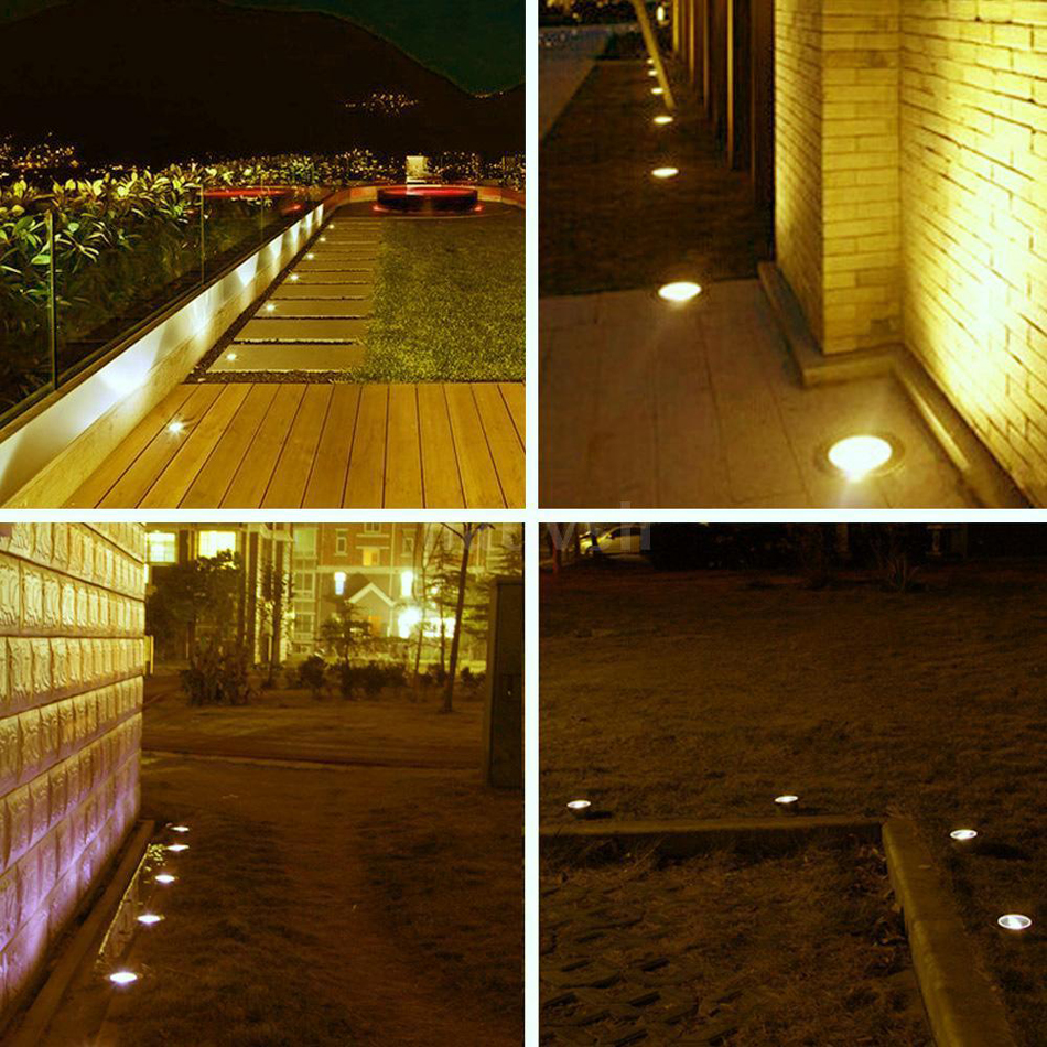 10x Low Voltage 12v Led Deck Light Garden Step Walkway