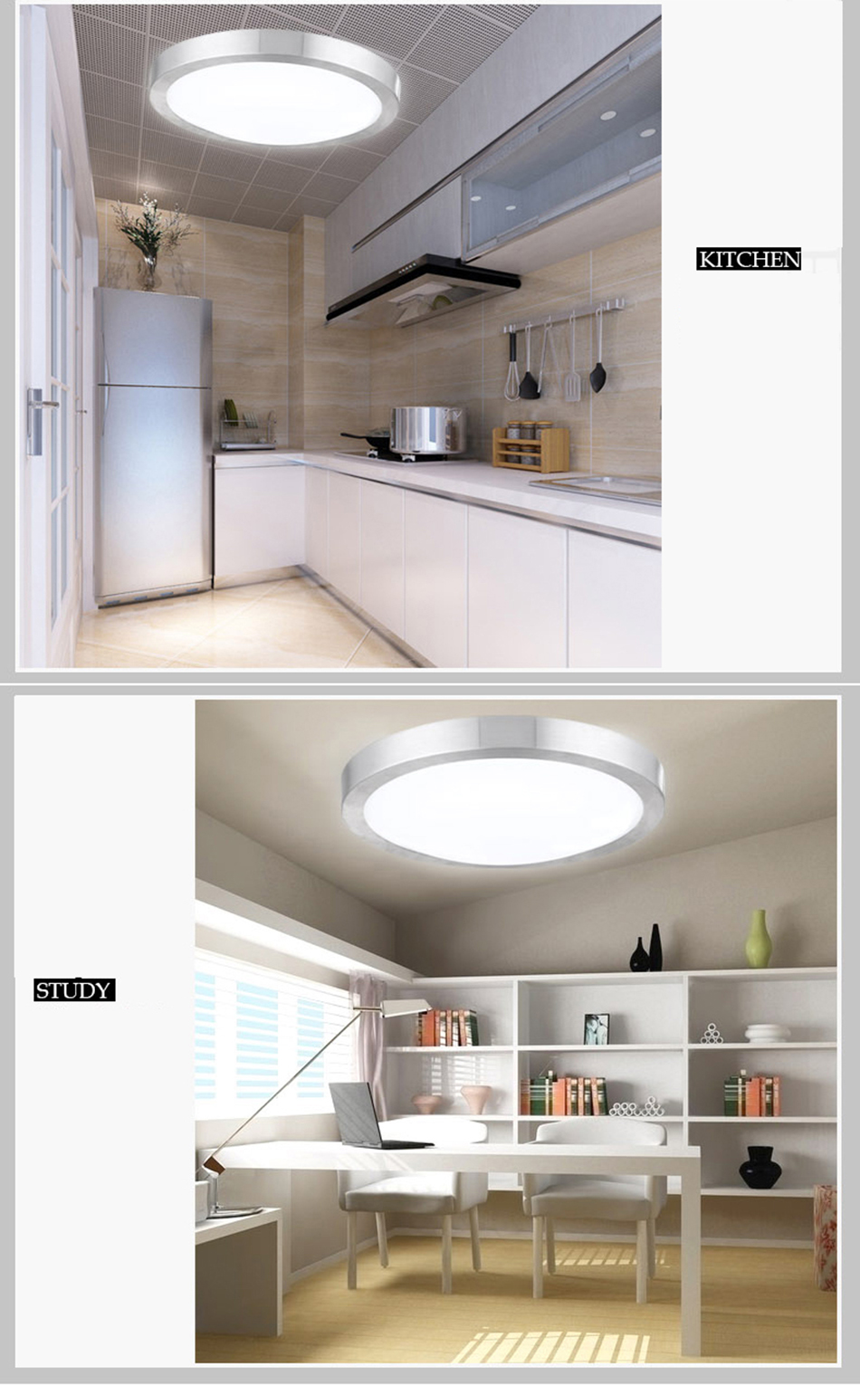 1 5x rund 12w led deckenlampe deckenleuchte badleuchte wandlampe k chen licht ebay. Black Bedroom Furniture Sets. Home Design Ideas