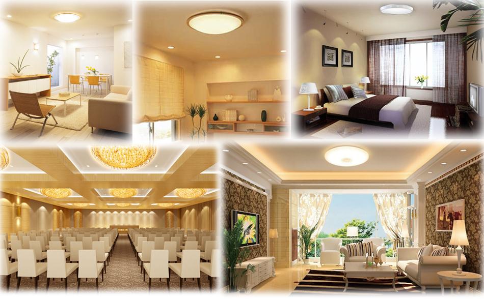 Bright 12W LED Ceiling Lamp Flush Mount C W White Dining