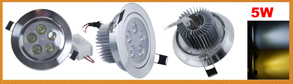 1W 3W 5W 7W 12W LED Recessed Ceiling Down Light Cabinet