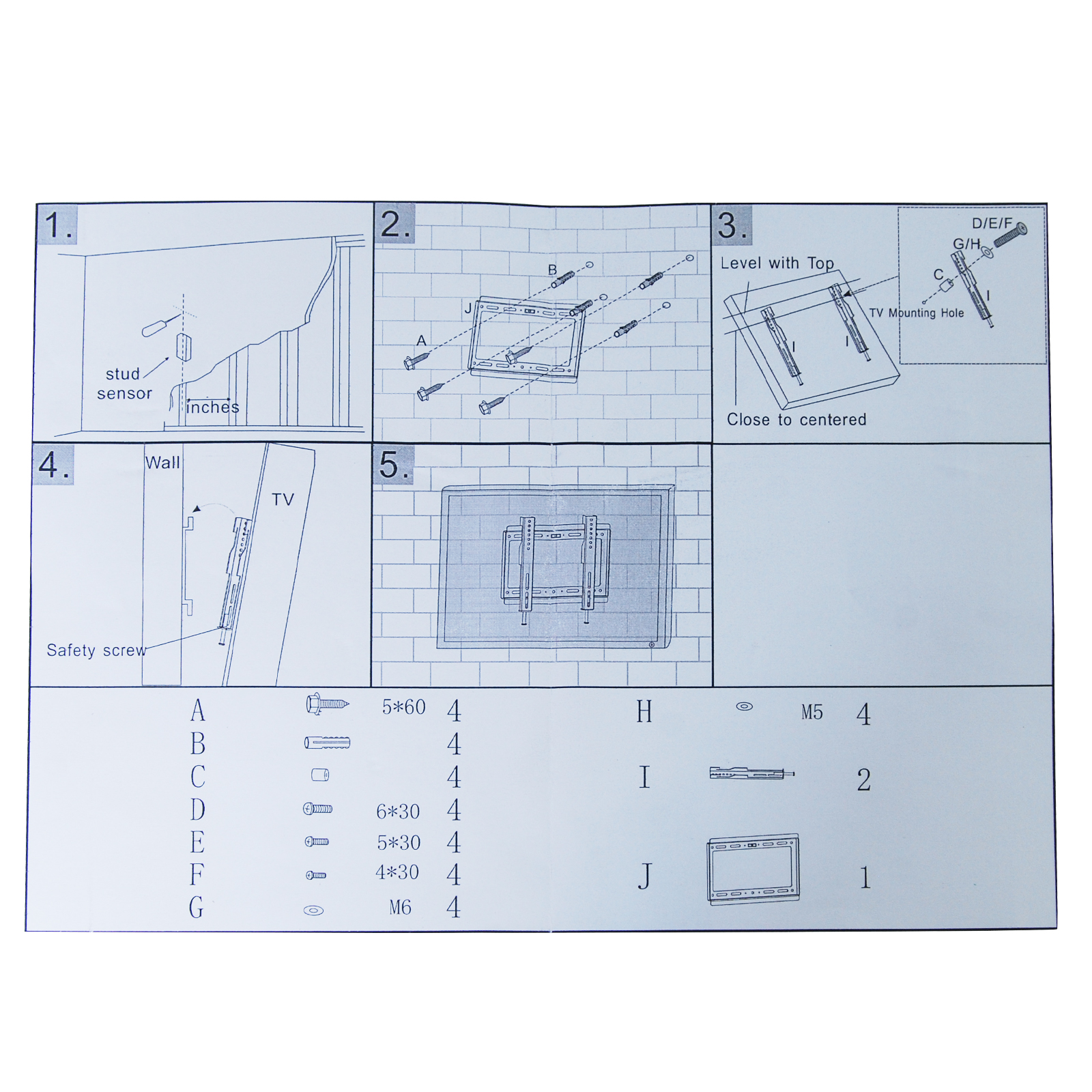 ezymount tv wall bracket instructions