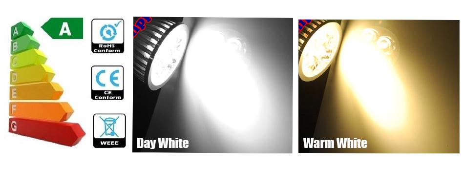 SMD SPOT MR16 12V WARMWEIß 12 SMD´s LEUCHTMITTEL LED LAMPE 2,4W ALUMINIUM GLAS