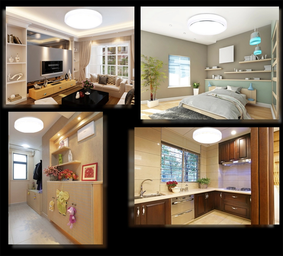 12w pir led flush mount ceiling light daylight cabinet for Ceiling mounted kitchen cabinets