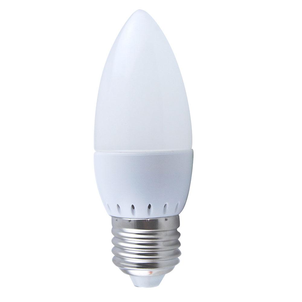 6pcs E27 3w Candle Light Bulb Lamp Led Cool White 6000k