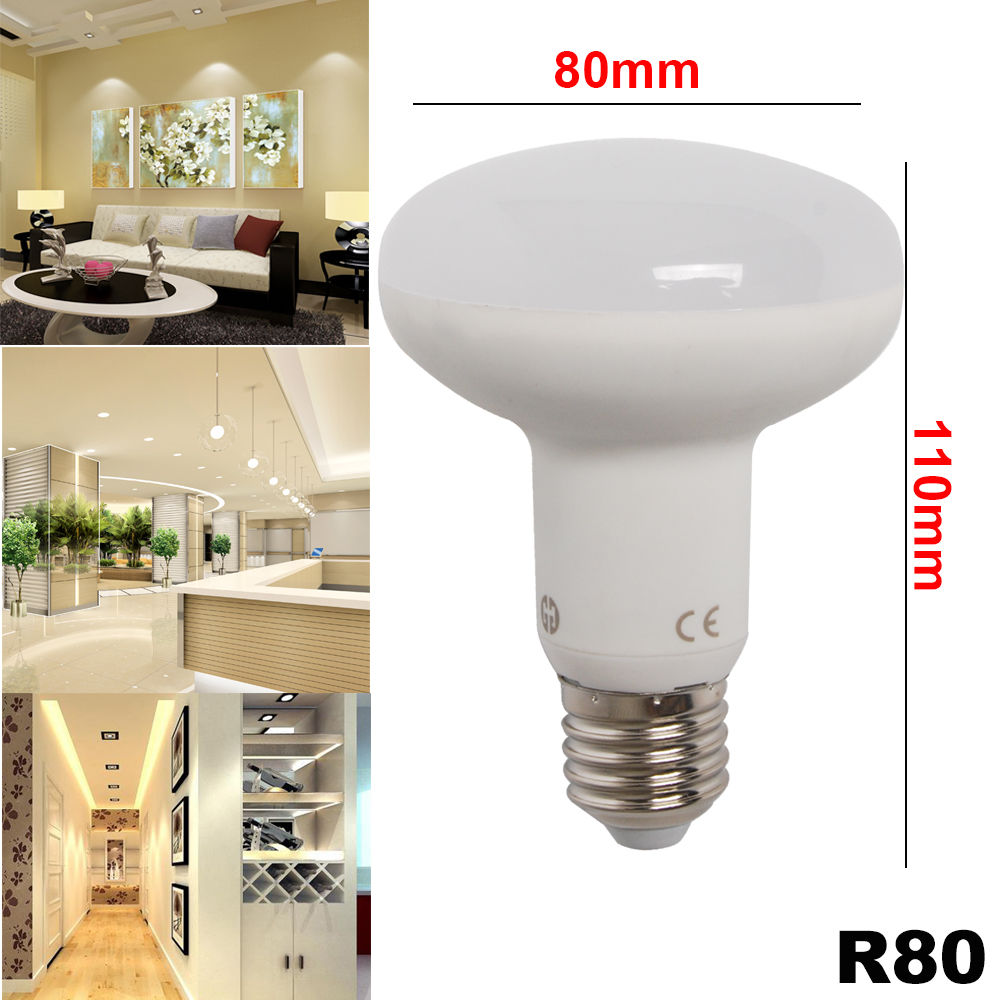 6 12x led dimmbar kerzenlampe 5w 8w 10w e14 e27 r63 r80 reflektor smd spot birne ebay. Black Bedroom Furniture Sets. Home Design Ideas