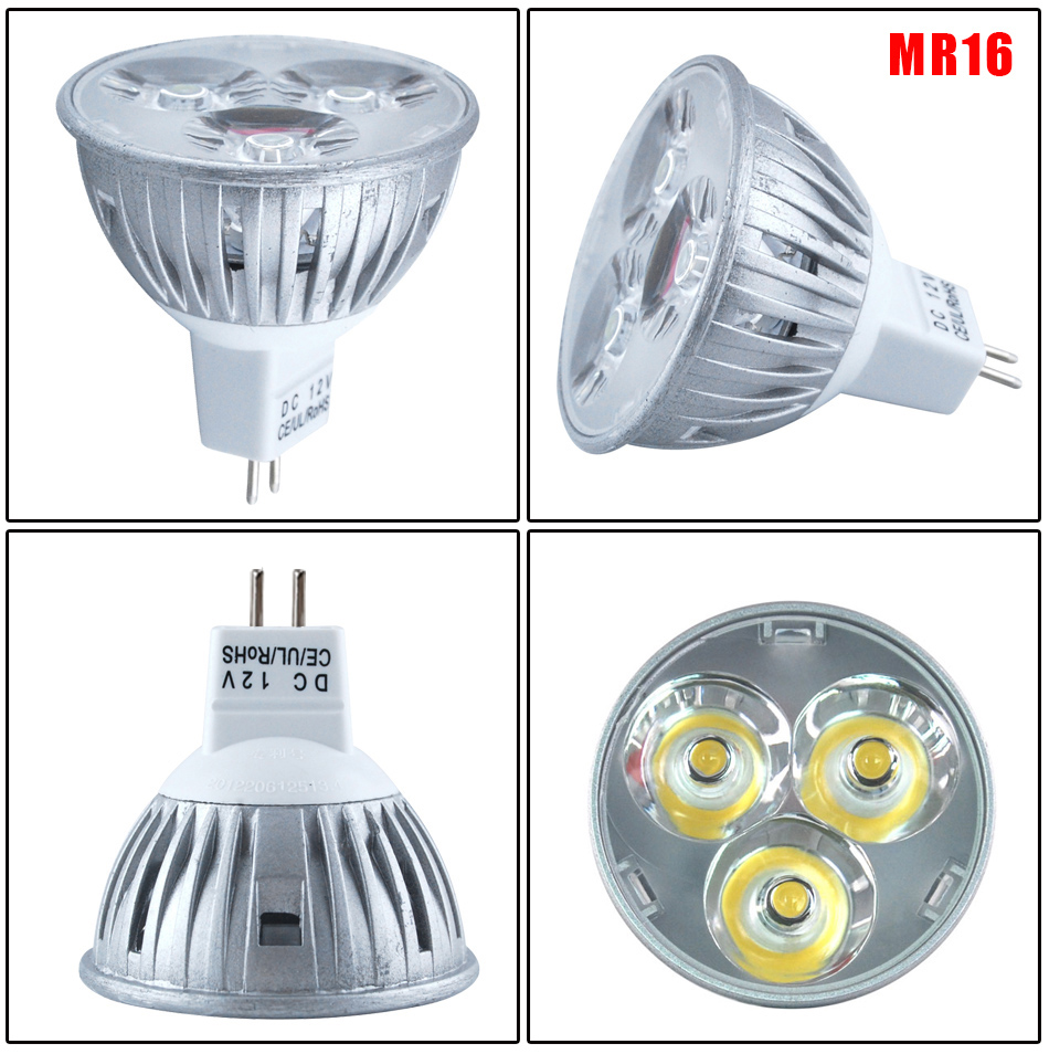 pack of 10 led spot bulbs 4w 6w gu10 mr16 gu5 3 warm white. Black Bedroom Furniture Sets. Home Design Ideas