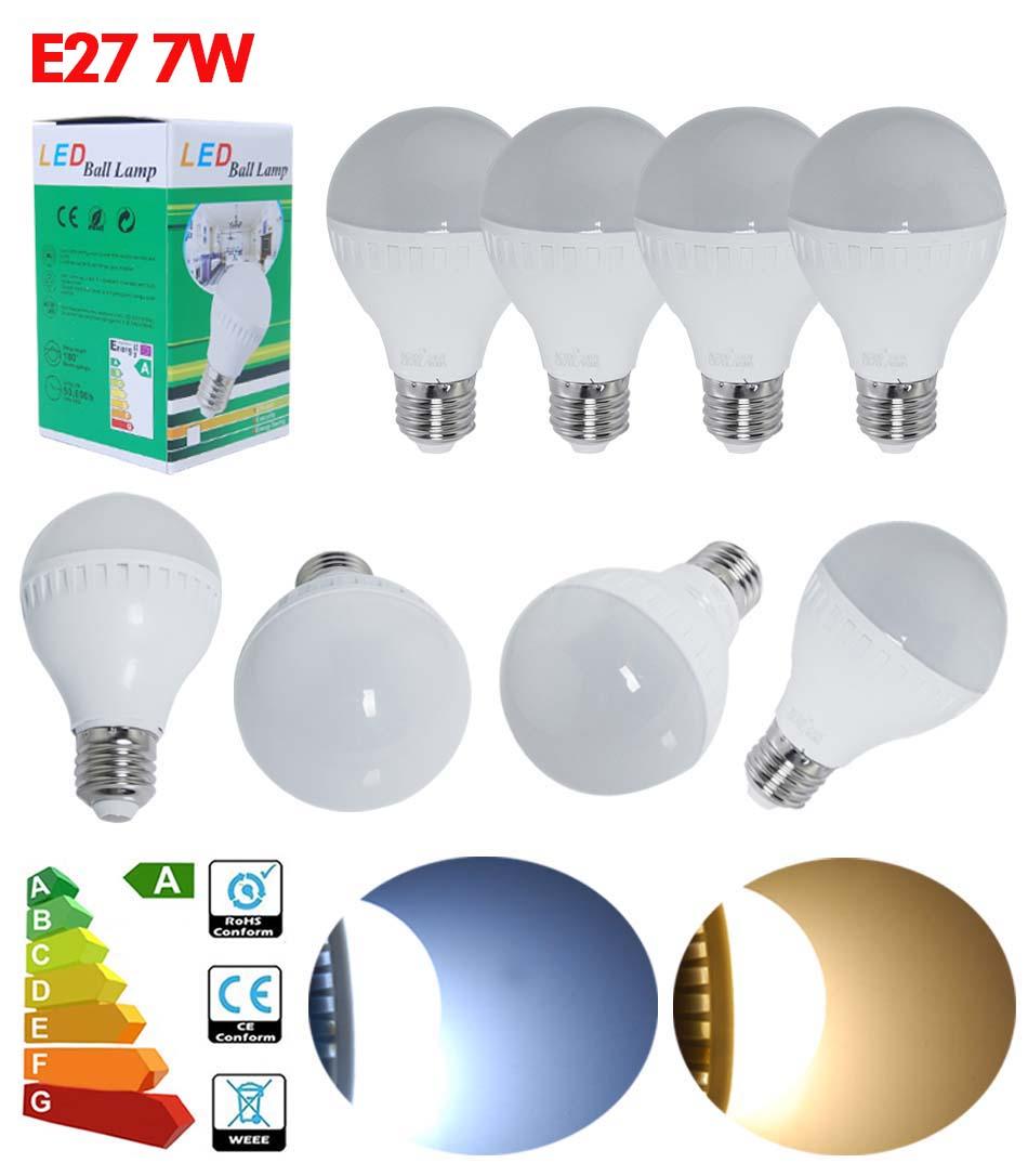 3//6//12//24X B22 E27 LED Globe Bulbs Ball Light 5W 7W 9W 12W Day Warm White BC ES
