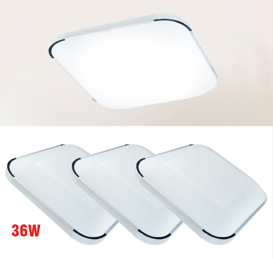 36w Dimmable Led Ceiling Down Light Bathroom Fitting: Modern 36W Dimmable Remote Control LED Square Ceiling