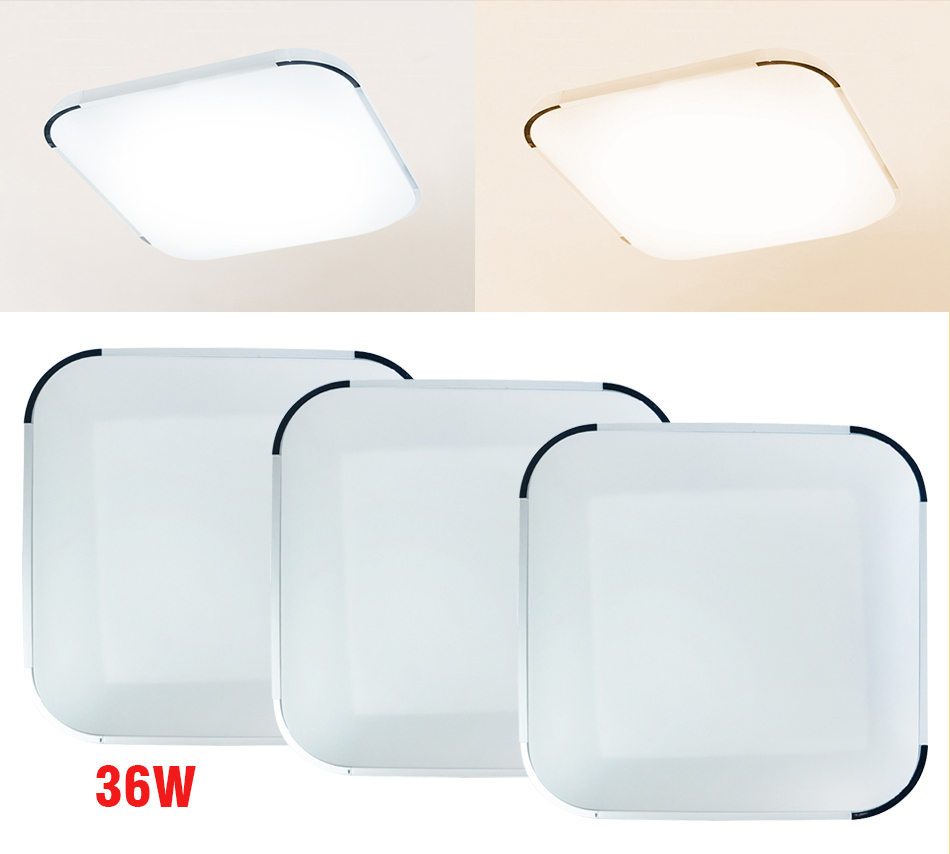 300x300 30x30 Led Lighting Panel Integrated Kitchen: Modern 36W Dimmable Remote Control LED Square Ceiling