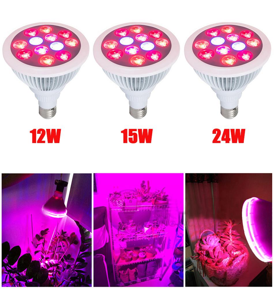 7w e27 5 red 2 blue plants growing light bulbs led lamp 7w