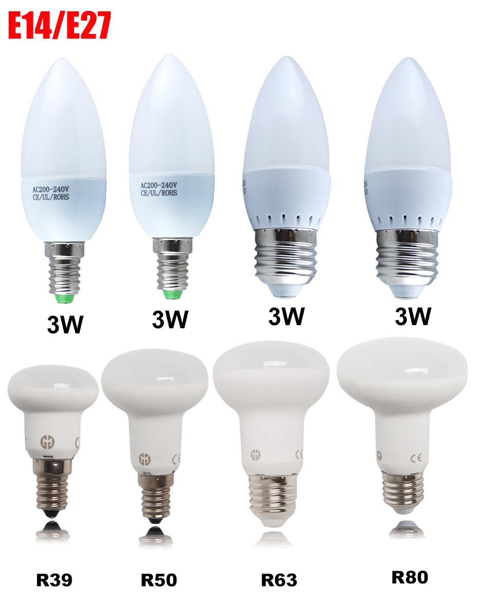 1 5 10x 3w 6w 8w 10w e14 e27 bougie ampoule led lampe r39 r50 r63 r80 r flecteur ebay. Black Bedroom Furniture Sets. Home Design Ideas