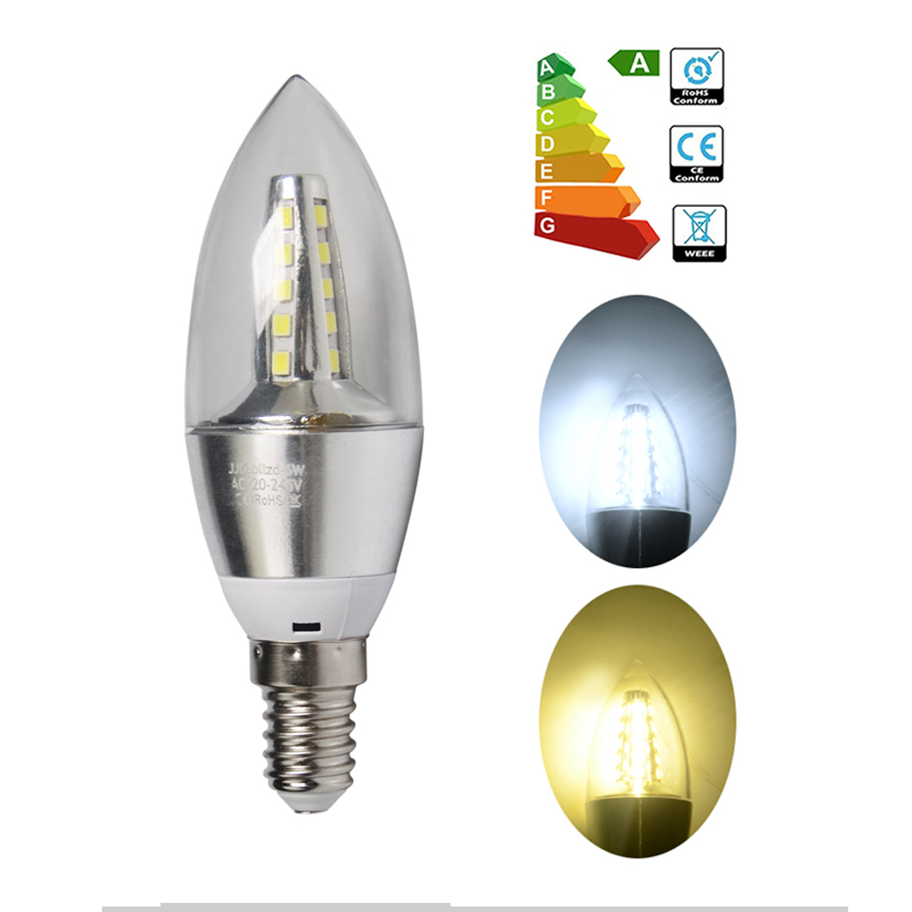 lotx20 e14 6w ampoule led smd flamme bougie lampe spot light blanc froid lumi re ebay. Black Bedroom Furniture Sets. Home Design Ideas