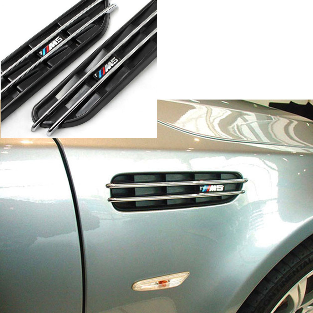 5Series E39 E60 F10 R M5 Air Flow Side Fender Vents Mesh Sticker Grille For BMW