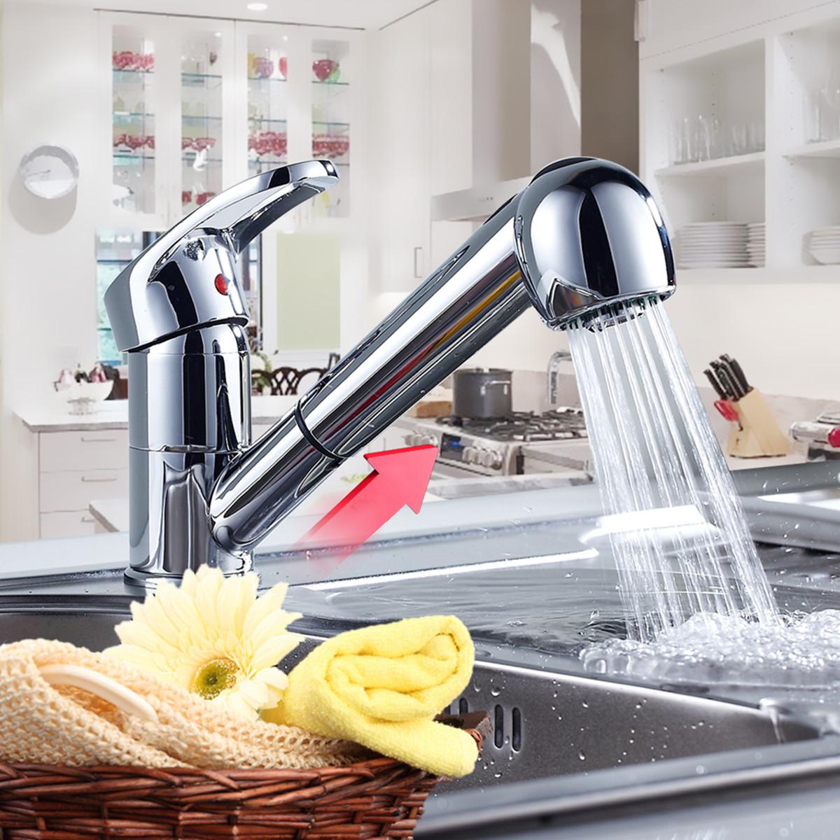 Uk Modern Monobloc Mixer Taps Chrome Brass Kitchen Sink